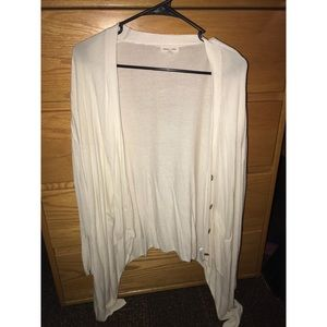 Thin Cream Colored Cardigan